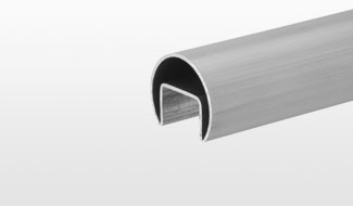 CRL GRRF Roll Formed Round Stainless Steel Cap Rail Systems