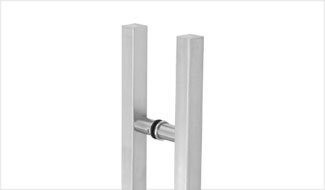 CRL Glass Mounted Square Ladder Style Pull Handle with Round Mounting Posts