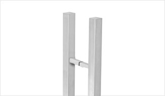 CRL Square Ladder Style Pull Handle with Square Mounting Posts