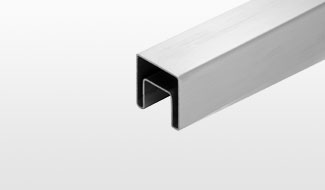 CRL SRF Roll Formed Square Stainless Steel Cap Rail Systems