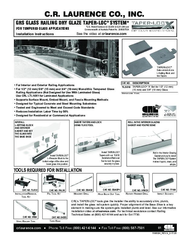 30 CRL TAPER-LOC TL5W10 2-12D-17