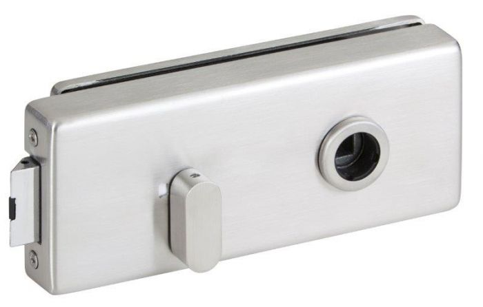 CRL Brushed Nickel Office Square Latch with red/white display