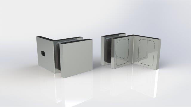 CRL Chrome Altea Series Fixed 90º Glass-to-Wall Clamp