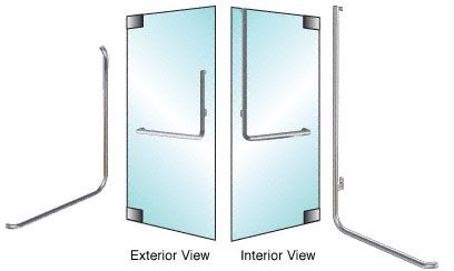 CRL-Blumcraft® Polished Stainless Left Hand Reverse Glass Mount