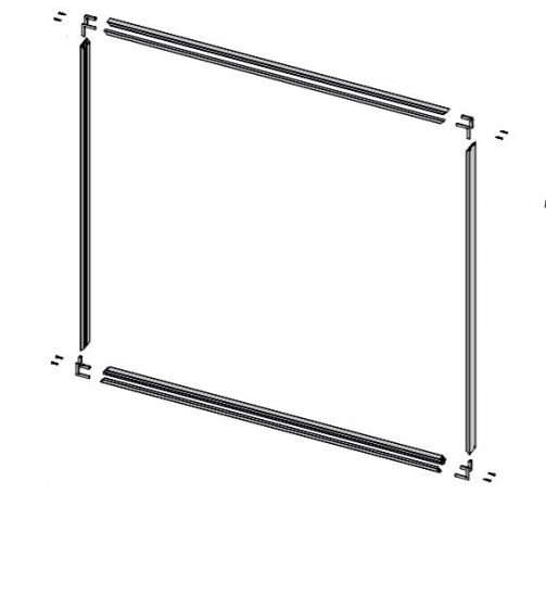 CRL COMPACT X Matte Black Frame Set for Sliding Door
