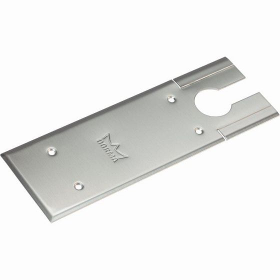 dormakaba brushed stainless cover plate for BTS 75