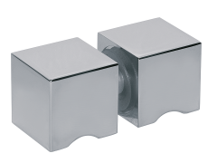 CRL Polished Chrome Square Back-to-Back Style Knob