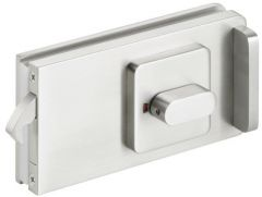 CRL STUTTGART  brushed nickel Sliding Door Lock for bathrooms