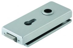 CRL DORMA Satin Anodized Office Square Hinge Set, lockable