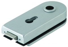 CRL DORMA Satin Anodized Office Round Hinge Set, lockable