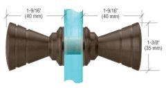 CRL Türknopf, Schleifenform gerippt, Ø 35 mm