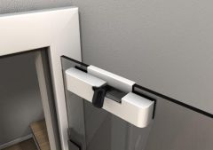 Door Closer for Glass Doors, Retrofit, white
