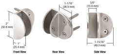CRL Wall Mount Round Mall Front Clamps