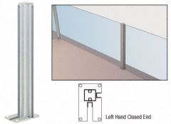 """CRL Satin Anodized 36"""" Left Hand Closed End Standard Partition Post"""