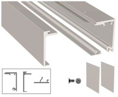 CRL Brushed Nickel 5 Metre Compact-X70 Sliding Top Track Including End Caps