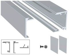 CRL Satin Anodised 5 Metre Compact-X70 Sliding Top Track Including End Caps