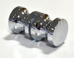 CRL Back to Back Euro Style Knob 30 x 30mm Chrome Plated