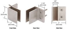 CRL Brushed Stainless Wall Mount Square Mall Front Clamp