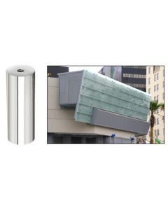 """CRL Polished 316 Stainless Standoff Base 1-1/2"""" Diameter by 4"""" in Length"""