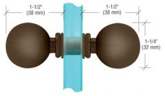 CRL Oil Rubbed Bronze Ball Style Back-to-Back Knobs