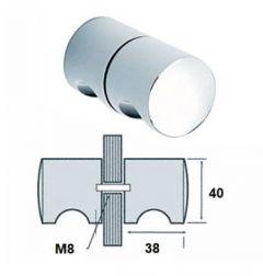 CRL Shower Knob 40 mm Diameter CP Glass Thickness 6 to 12 mm Brass Body