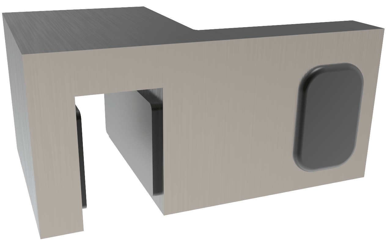 90° Door-Stopper for fixed panel mounting