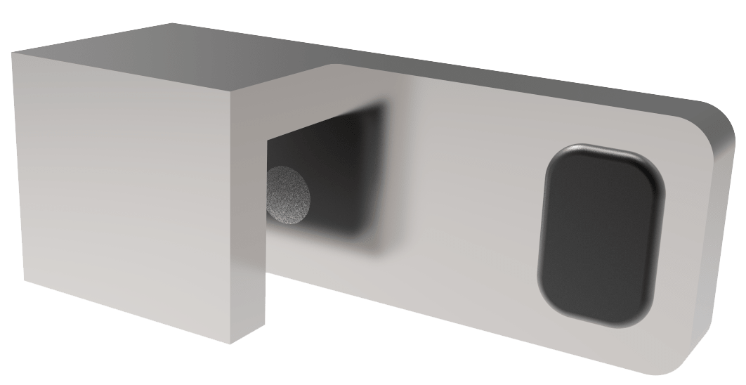180° Door-Stopper for fixed panel mounting