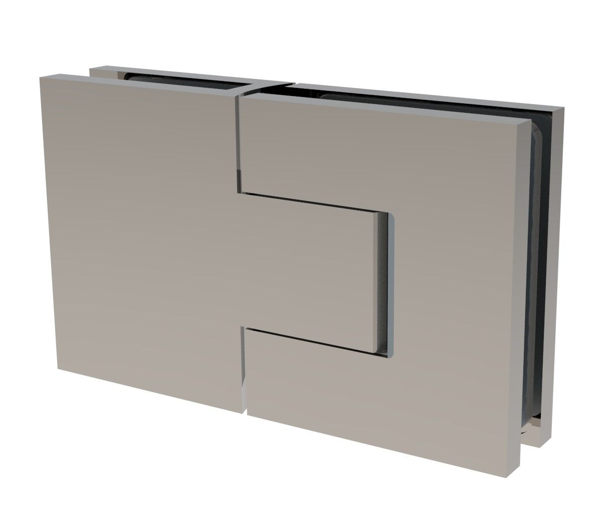 CRL BELLAGIO Adjustable Shower Hinge, 180° Glass-Glass, Cover Plates