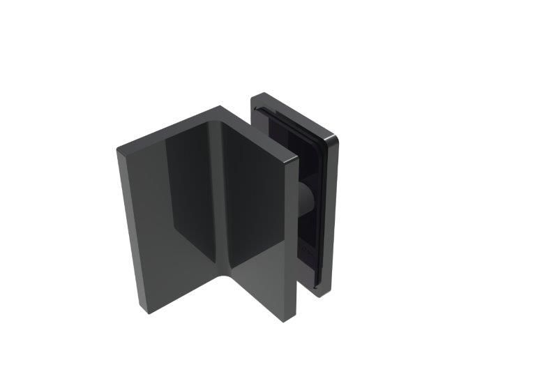 CRL BELLAGIO Wall Clamp, 90° Glass-Wall, Cover Plates