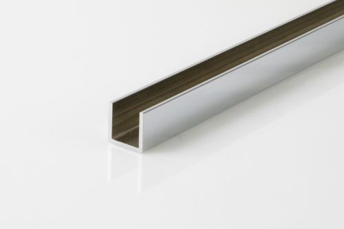 CRL ALUMINIUM U-CHANNEL, FOR 10 TO 12 MM GLASS, CHROME PLATED, 6 M