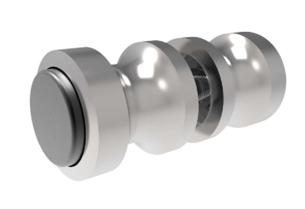CRL EURO Plus Shower Door Knob with Bumpers