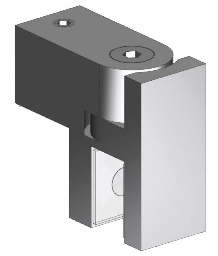 CRL Swiveling U-Bracket for 8 - 10 mm Glass, 12 x 12 mm