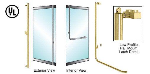 CRL-Blumcraft® Satin Brass Left Hand Reverse Low Profile Mount Keyed Access