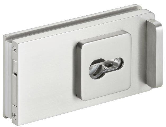 CRL STUTTGART  brushed nickel Sliding Door Lock for cylinder
