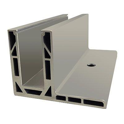 CRL Flanged Aluminium Base Shoe Designed For 21.52mm Glass 3 Metre