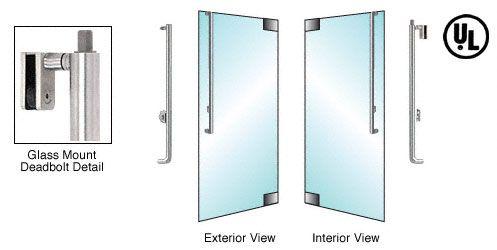 CRL-Blumcraft® Brushed Stainless Right Hand Swing Glass Mount Keyed Cylinder/Keyed Cylinder