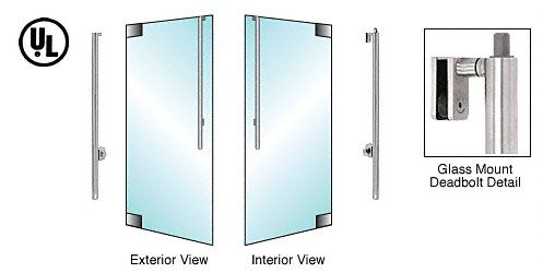 CRL-Blumcraft® Brushed Stainless Left Hand Reverse Glass Mount Cylinder Access