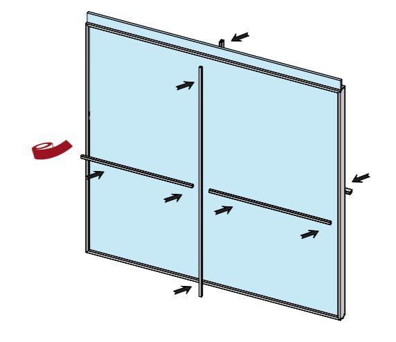 CRL COMPACT X Matte Black Internal Division Set for Sliding Door