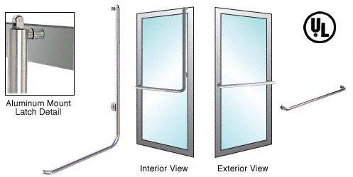 CRL-Blumcraft® Brushed Stainless Right Hand Reverse Aluminum Door Mount Keyed Access