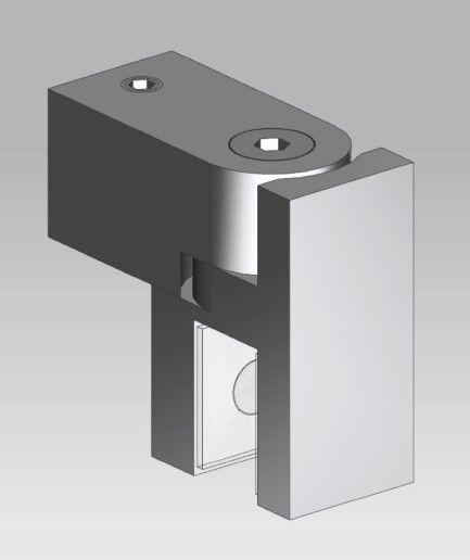 CRL Chrome Swiveling U-Bracket for 8 - 10 mm Glass, 12 x 12 mm