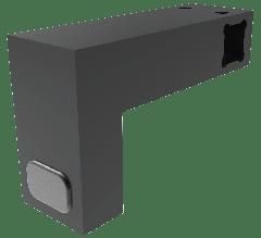 CRL Matte Black Door Stopper for 12 x 12 mm Support Bar