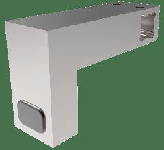 CRL Polished Chrome Door Stopper for 12 x 12 mm Support Bar