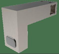 CRL Brushed Nickel Door Stopper for 12 x 12 mm Support Bar
