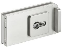 CRL STUTTGART  brushed nickel Sliding Door Lock for cylinder