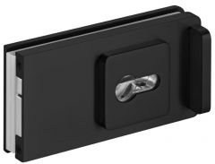 CRL STUTTGART, matte black Sliding Door Lock for cylinder