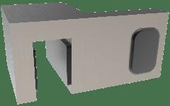 CRL Brushed Nickel 90° Door Stopper for fixed panel, left