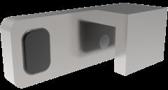 CRL Polished Chrome 180° Door Stopper for fixed panel, left