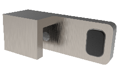 CRL Brushed Nickel 180° Door Stopper for fixed panel, right
