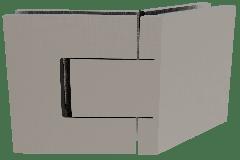 CRL BELLAGIO Adjustable Polished Brushed Nickel 135° Glass-Glass Shower Hinge, Cover Plates