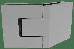 CRL BELLAGIO Adjustable Polished Chrome 135° Glass-Glass Shower Hinge, Cover Plates